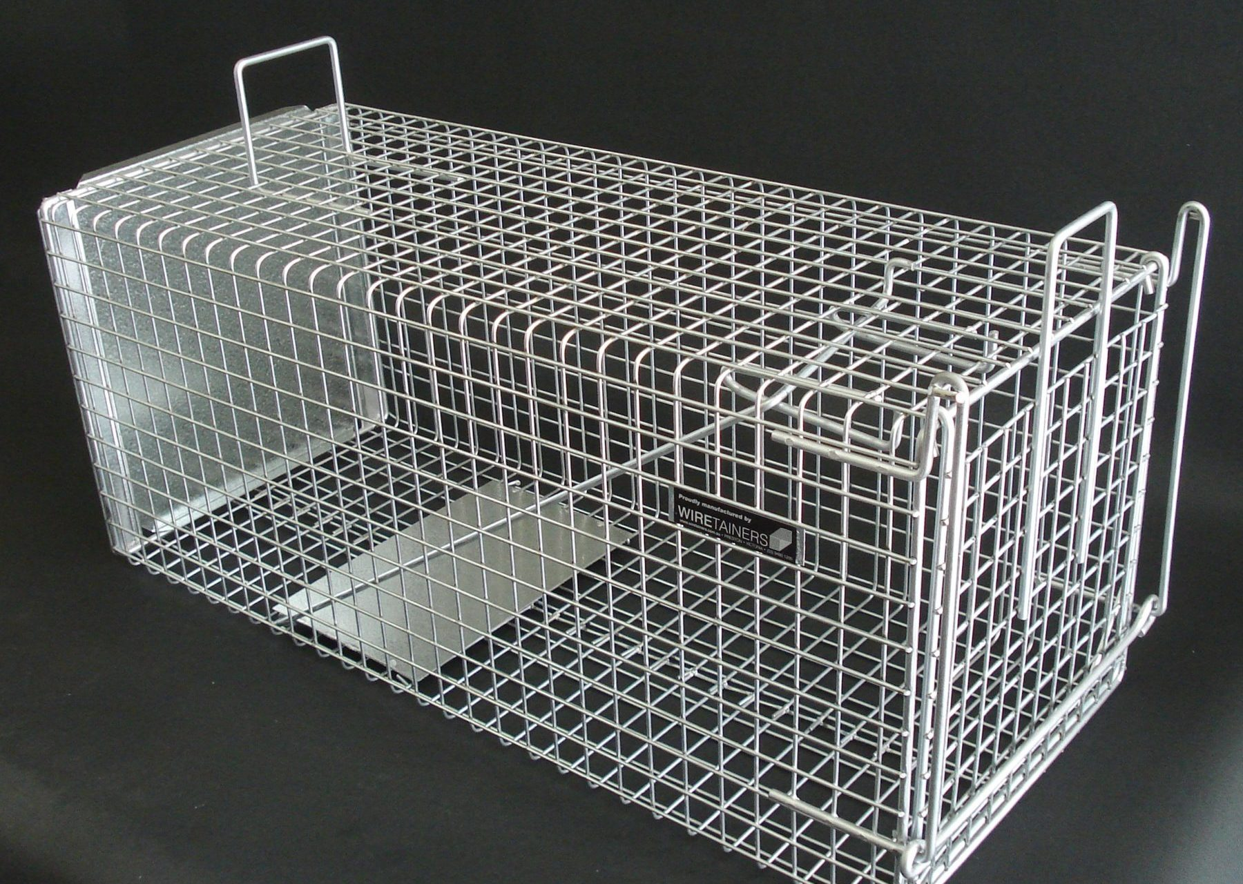 Detail image of Wiretainers Cat Trap or Rabbit Trapfrom Automatic Wire